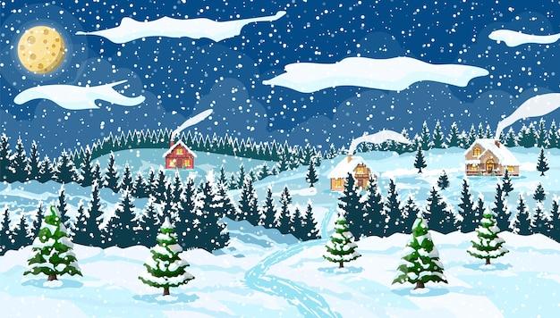 Зимний новогодний фон