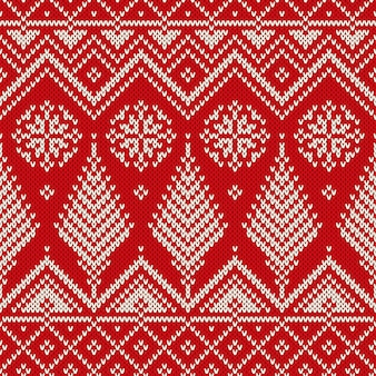 Winter christmas scandinavian style seamless knitted pattern