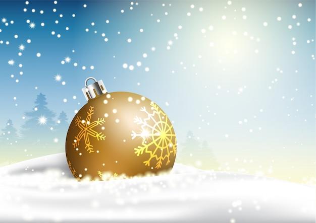 Winter christmas season