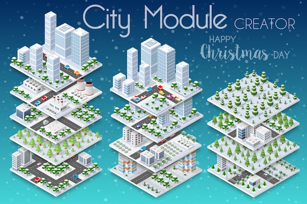 Winter christmass city