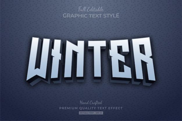 Winter clean editable premium text style effect