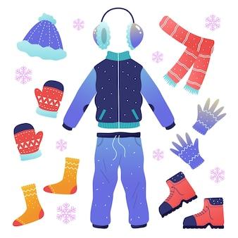 冬の服とアクセサリー