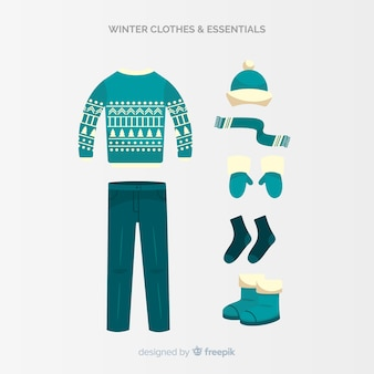 Коллекция зимней одежды и предметов первой необходимости
