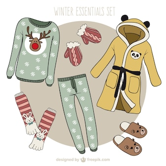 Winter clothes christmas collection