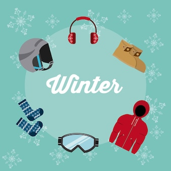 Winter clothes design, vector illustration eps10 graphic