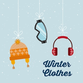 Winter clothes design, vector illustration eps10 graphic