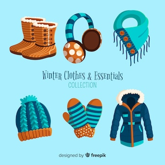 Winter clothes and essentials collection