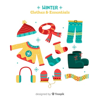 Winter clothes and essentials pack