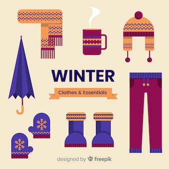 Winter clothes and essentials