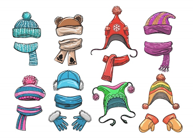 Winter clothes for kids set