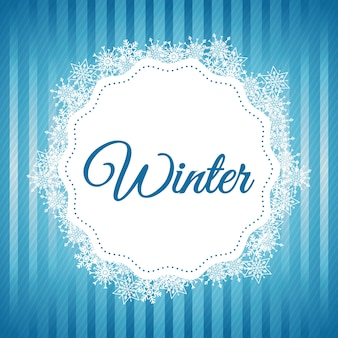 アイコンデザインの冬のコンセプト