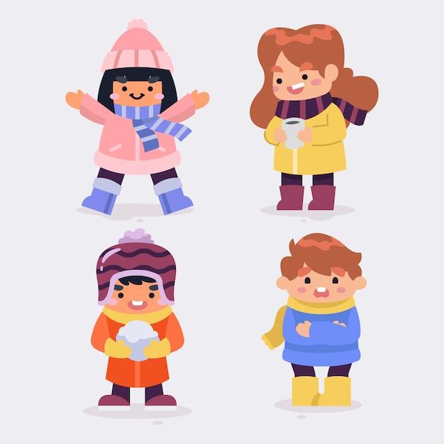 Зимняя коллекция милых детей