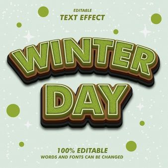 Winter day text effects