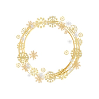 Winter decorative frame with frozen element