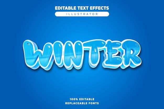 Winter editable text effect