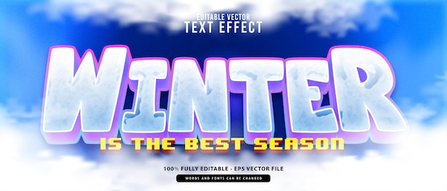 Winter. elegant modern  editable text effect