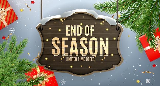Winter end of season sale banner template
