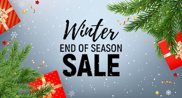 Winter end of season sale   template