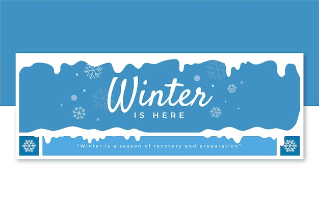 Winter facebook cover template