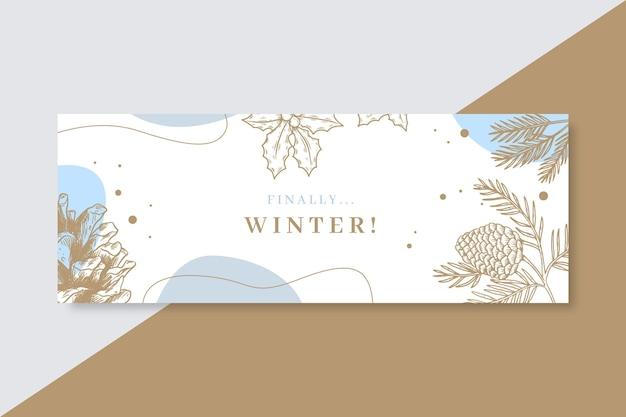 Зимний шаблон обложки facebook