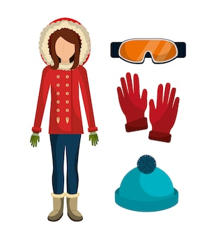 Winter fashion clothes and accesories