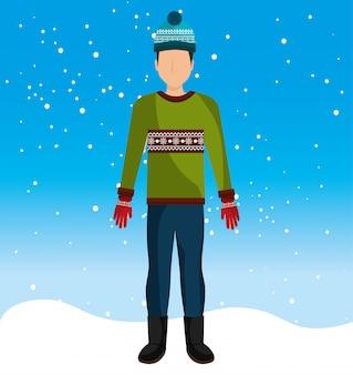 Зимняя мода одежда и аксессуары