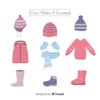 Зимняя плоская одежда и предметы первой необходимости