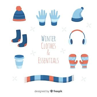 Winter flat clothes and essentials