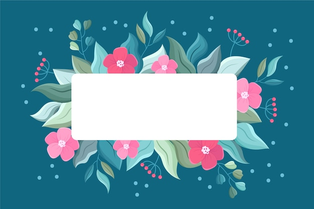 Winter florals with empty banner
