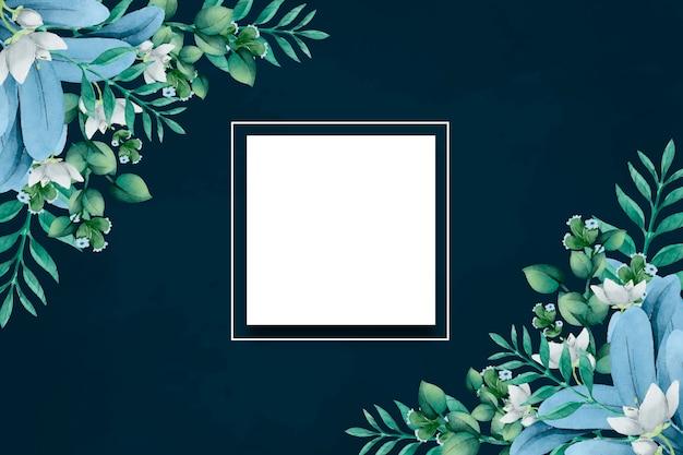 空のスポットで冬の花の背景