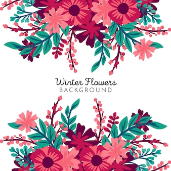 Winter flowers background