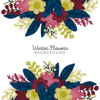 Winter Flowers Background