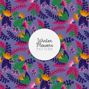Winter Flowers Pattern