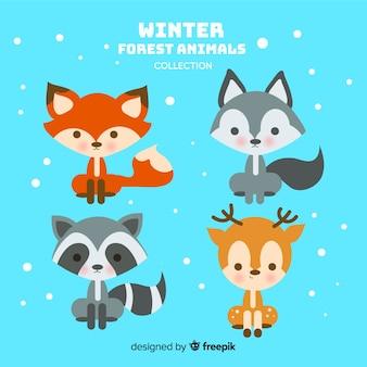 겨울 숲 동물 모음