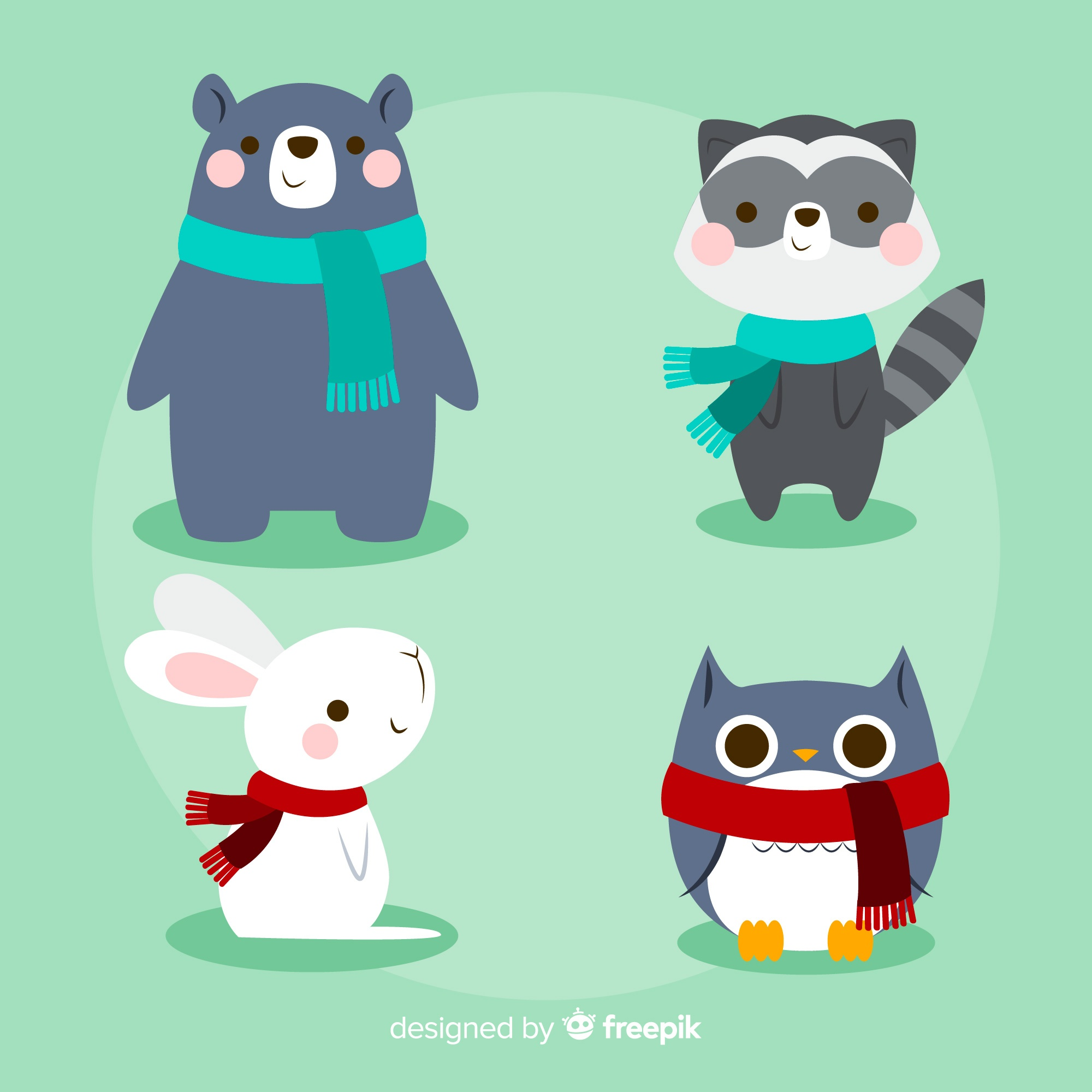 Winter forest animal pack