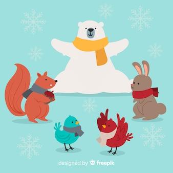 Winter friends meeting