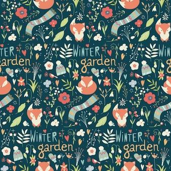 Winter garden pattern design