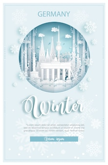 Winter in germany for travel and tour advertising concept