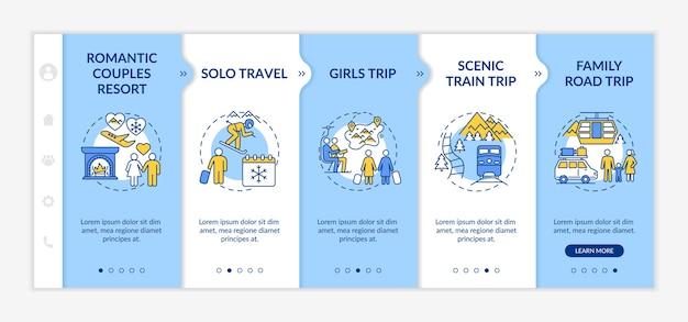 Winter getaway ideas onboarding template