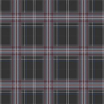 Winter grey tartan plaid seamless pattern in vector