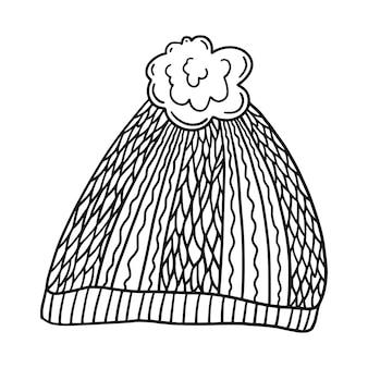 冬の帽子のアイコン。