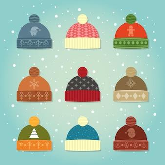 冬の帽子コレクションセット