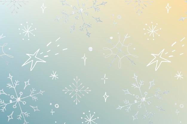 冬の休日の背景、クリスマスのシームレスなパターン、かわいいイラストベクトル