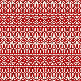 Winter holiday fair isle knitted pattern.