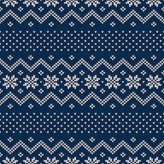 Зимний праздник вязаный узор. бесшовный фон