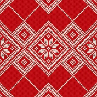 Winter holiday knitted pattern. seamless background