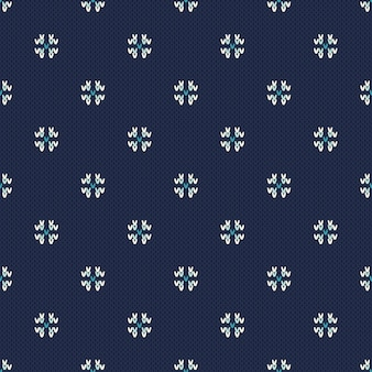 Зимний праздник вязаный узор со снежинками. дизайн вязания свитера. бесшовные рождество и новый год фон