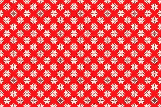シームレスなクリスマススターの飾りと冬の休日のピクセルパターン
