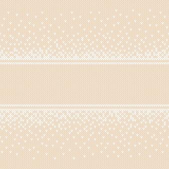 Зимний праздник бесшовные вязаные фон с местом для текста. имитация текстуры шерсти