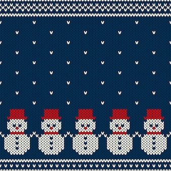 Winter holiday seamless knitted pattern. nordic sweater